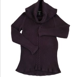Doncaster Collection Cowl Neck Chunky Knit Sweater
